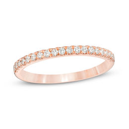 1/4 CT. T.W. Diamond Wedding Band in 10K Rose Gold