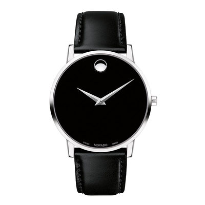 7fd463798 Men's Movado Museum Classic Strap Watch with Black Dial (Model: 0607269)