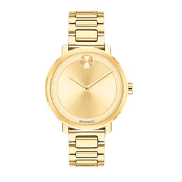 Ladies' Movado Bold® Sugar Gold-Tone IP Watch (Model: 3600502)
