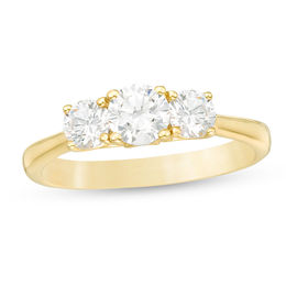 1 CT. T.W. Diamond Past Present Future® Engagement Ring in 14K Gold