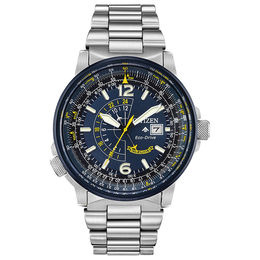 Men's Citizen Eco-Drive® Blue Angels Promaster Nighthawk Watch with Blue Dial (Model: BJ7006-56L)