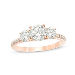 1-3/4 CT. T.W. Diamond Past Present Future® Engagement Ring in 14K Rose Gold