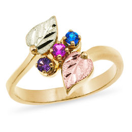 Black Hills Gold Mother's Birthstone Bypass Ring (2-6 Stones)