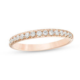 1/2 CT. T.W. Diamond Anniversary Band in 18K Rose Gold (I/SI2)