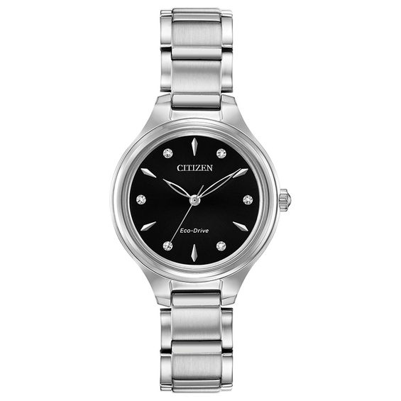 Ladies Citizen Eco-Drive® Corso Diamond Accent Watch with Blac
