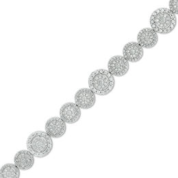 3 CT. T.W. Diamond Frame Bracelet in 10K White Gold