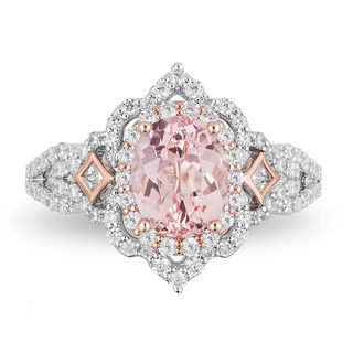 Enchanted Disney Aurora Oval Morganite And 3 4 Ct T W