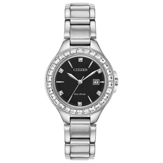 Ladies Citizen Eco-Drive® Silhouette Crystal Accent Watch with