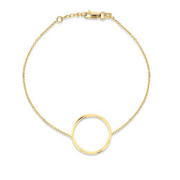 Ellipse Bracelet in 14K Gold - 7.5""