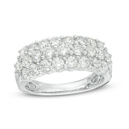 2 CT. T.W. Diamond Multi-Row Anniversary Band in Platinum