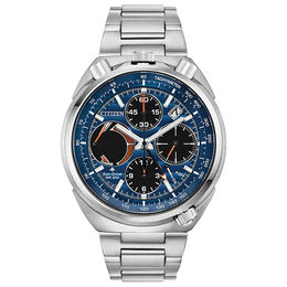 Men's Citizen Eco-Drive® Promaster Tsuno Racer Chronograph Watch with Blue Dial (Model: AV0070-57L)