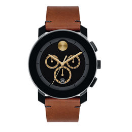 Men's Movado Bold® Chronograph Strap Watch with Black Dial (Model: 3600540)