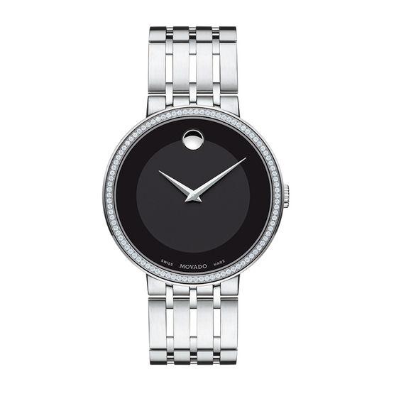 Men S Movado Esperanza 1 3 Ct T W Diamond Watch With