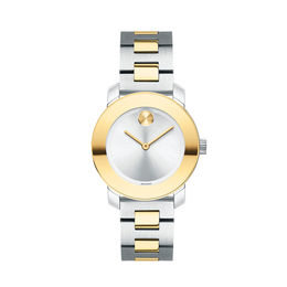 Ladies' Movado Bold® Two-Tone IP Watch with Silver-Tone Dial (Model: 3600551)