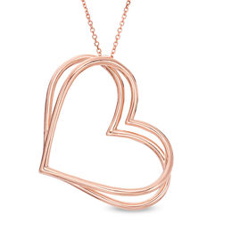 The Kindred Heart from Vera Wang Love Collection Tilted Pendant in 10K Rose Gold - 19""