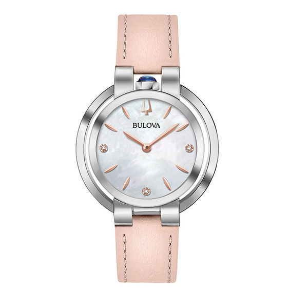 Ladies Bulova Rubaiyat Diamond Accent Strap Watch with Mother-of-