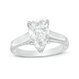 Vera Wang Love Collection 2-1/3 CT. T.W. Certified Pear-Shaped Diamond Engagement Ring in 14K White Gold (I/SI2)