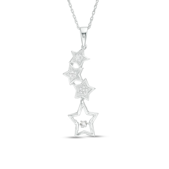 "Unstoppable Loveâ""¢ 1/5 CT. T.w. Diamond Multi-Star Pendant i"