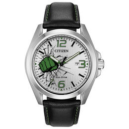 Men's Citizen Eco-Drive® Hulk Strap Watch with Silver-Tone Dial (Model: AW1431-24W)