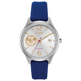 Ladies' Citizen Eco-Drive® Captain Marvel Strap Watch with Silver-Tone Dial (Model: FE6101-05W)