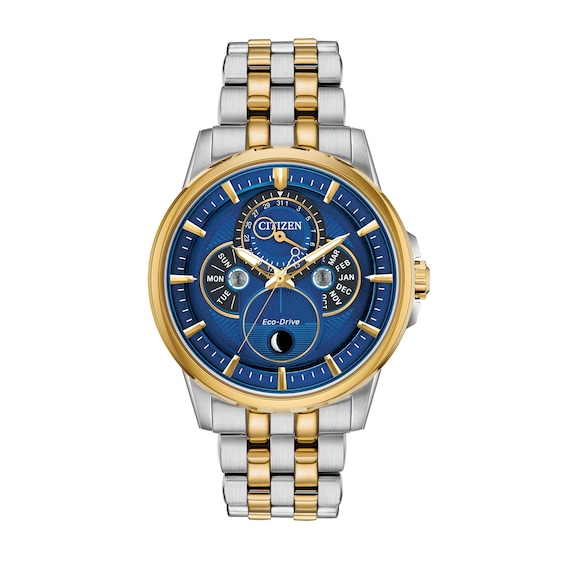 Mens Citizen Eco-Drive® Calendrier Chronograph Two-Tone Watch