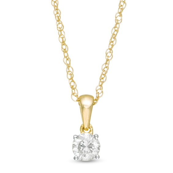 1/3 CT. Diamond Solitaire Pendant in 10K Gold